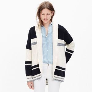 Madewell Striped Cocoon Jacket Sweater Cardigan